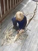 Elík připravuje tyč....