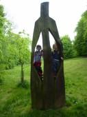S Martinkou a Zuzkou na cyklovýletě na Hlavatici
