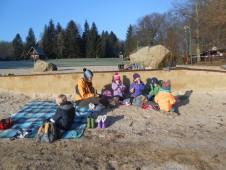 prosincový piknik na pláži