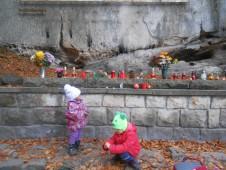 dušičky na hřbitově horolezců