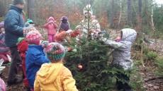 ozdobili jsme zvířátkům stromeček