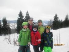 S lyžařským týmem chrličů na Studenově.